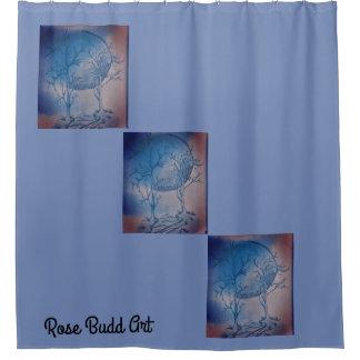 shower curtain blue