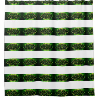 Shower curtain, Celtic knot, multicolored, green Shower Curtain