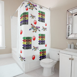 Shower curtain Crayons
