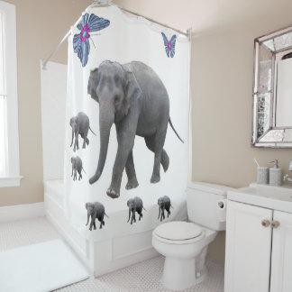 Shower curtain Elephants