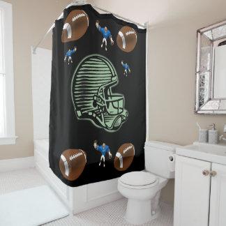 Shower curtain football sports