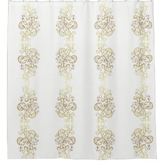 Shower Curtain--Gold Swirls Shower Curtain