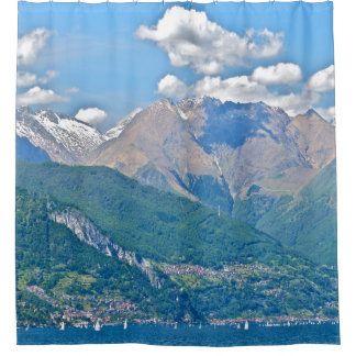 shower curtain/ITALIAN LAKE, MOUNTAINS,SAILBOATS, Shower Curtain