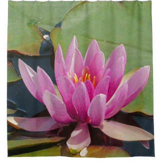 """SHOWER CURTAIN /""""LOVELY PINK LOTUS BLOSSOM"""""""