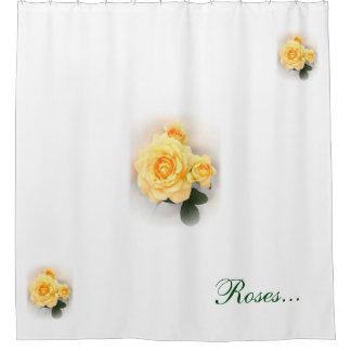 Shower Curtain - Lovely Yellow Roses