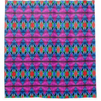 Shower Curtain--Murano Glass Pink Triangle Shower Curtain