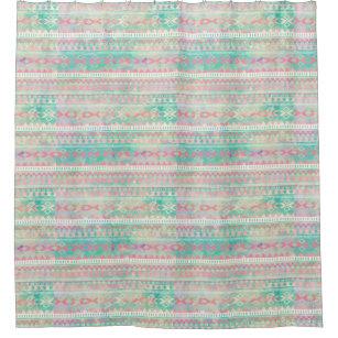 Shower Curtain Native American Print
