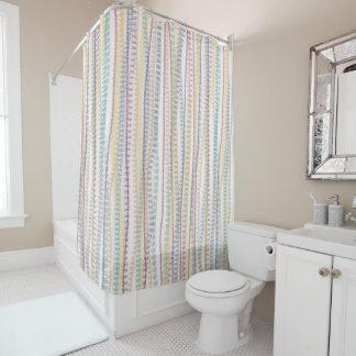 Shower Curtain/Pastel colors-stripes Shower Curtain