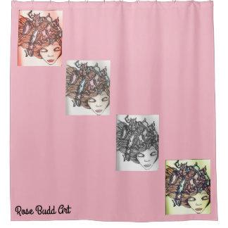 shower curtain pink