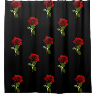 Shower Curtain- Red Roses Shower Curtain