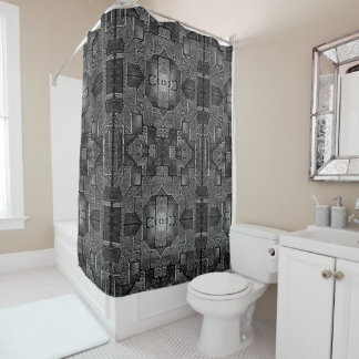 Shower Curtain SPACE SHIP HULL
