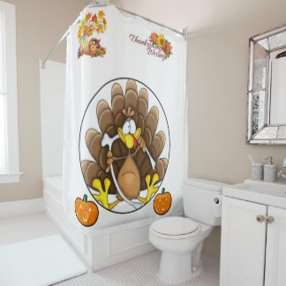 Shower curtain Thanksgiving