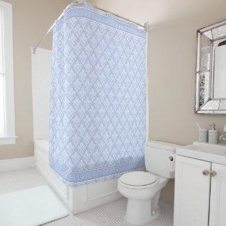 Shower Curtain - Wedgewood Blue Damask