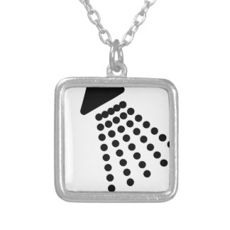 Shower Head Silver Plated Necklace
