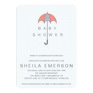 Shower In The Forecast 13 Cm X 18 Cm Invitation Card