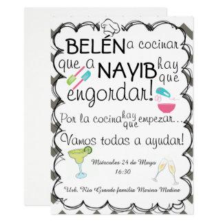Shower kitchen card