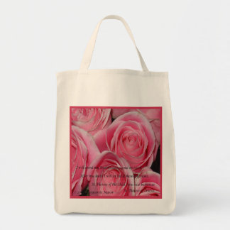 Shower of Roses, St. Therese, tote Grocery Tote Bag