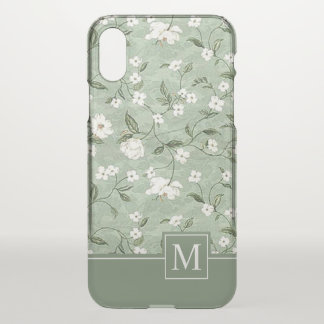 Shower of White Flowers Monogram | iPhone X Case