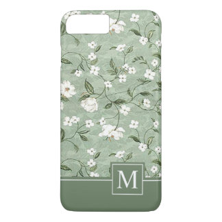 Shower of White Flowers Monogram | Phone Case