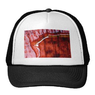 shower outdoors trucker hat