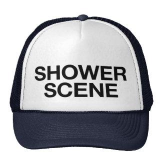 SHOWER SCENE fun slogan trucker hat