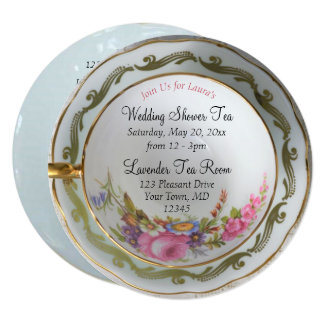 Shower Teacup Tea Party Invitation