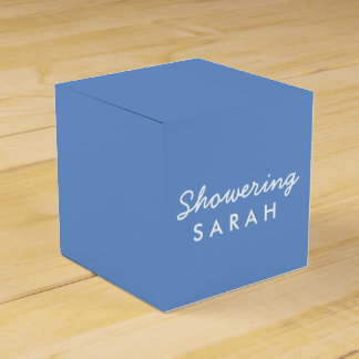 Showering the Mom-To-Be Tent Favor Box - Blue