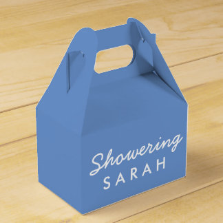 Showering the Mom-To-Be Tent Favor Box - Blue Wedding Favour Box