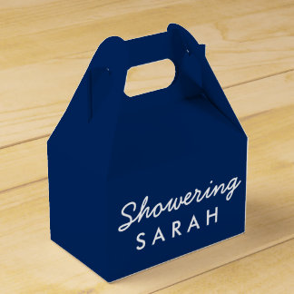 Showering the Mom-To-Be Tent Favor Box - Navy Blue