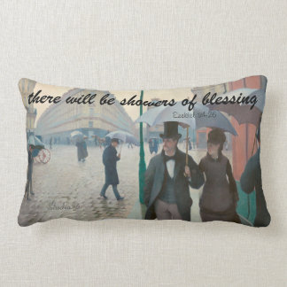 Showers Of Blessing, Rainy Day Lumbar Pillow