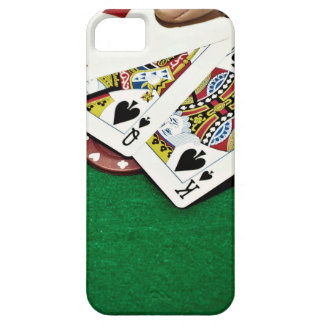 Showing cards green table poker iPhone 5 cover