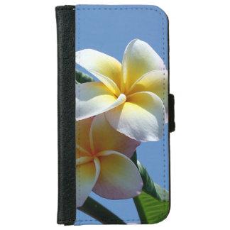 Showy Plumeria Frangipani Blooms iPhone 6 Wallet Case