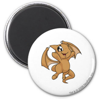 Shoyru Brown 6 Cm Round Magnet
