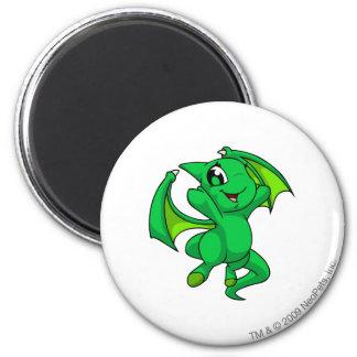 Shoyru Green 6 Cm Round Magnet