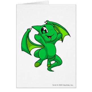 Shoyru Green Greeting Card