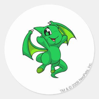 Shoyru Green Round Sticker