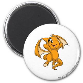 Shoyru Orange 6 Cm Round Magnet