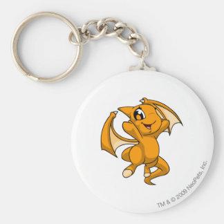 Shoyru Orange Basic Round Button Key Ring