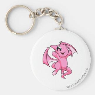 Shoyru Pink Basic Round Button Key Ring