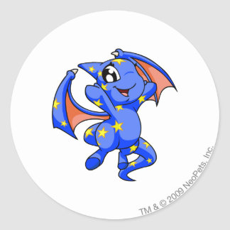 Shoyru Starry Round Sticker