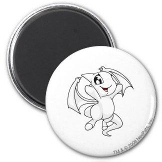 Shoyru White 6 Cm Round Magnet