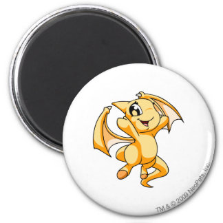 Shoyru Yellow 6 Cm Round Magnet