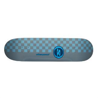 Shrapnel Blue Gray Custom Skate Board