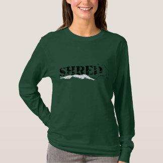 shred. b&w. wind. T-Shirt