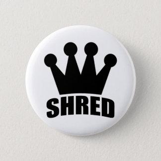 Shred Crown (black) circular badge