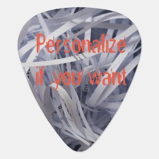 Shred Guitar Pick - Shredded Paper Funny Joke