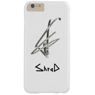 Shred snowboarder black barely there iPhone 6 plus case
