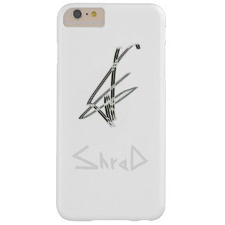 shred snowboarder grey barely there iPhone 6 plus case