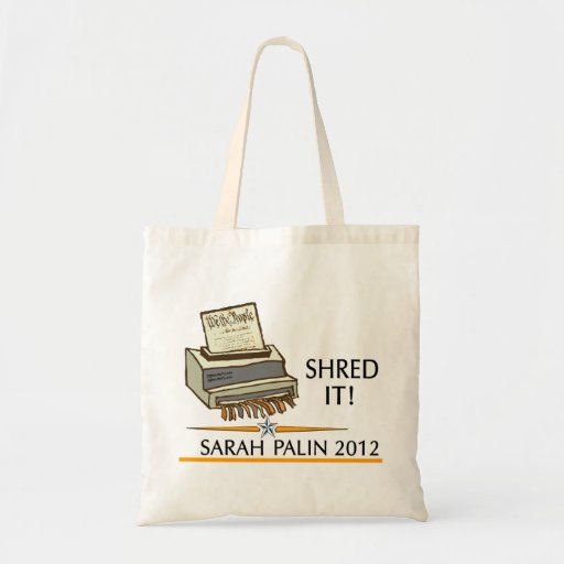 Shred the constitution tote bags