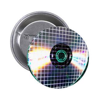 Shredded Disco Galaxy CD Pinback Button